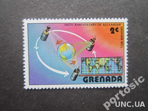 марка Гренада космос карта MNH