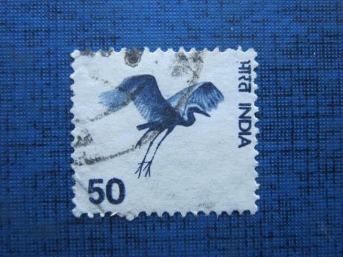 Марка Индия фауна птица цапля гаш