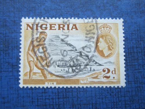 Марка Нигерия 1953 экскаватор золотой рудник гаш