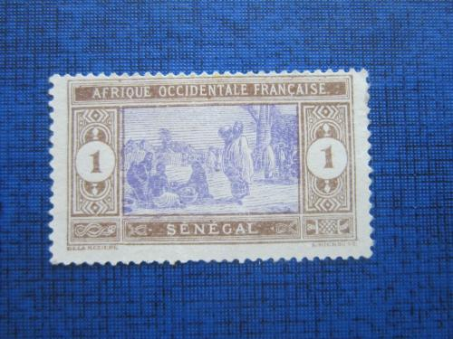 Марка Сенегал 1914 рынок 1 сантим не гаш