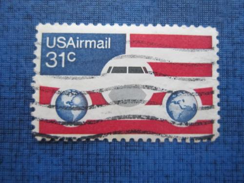 Марка США самолёт карта гаш