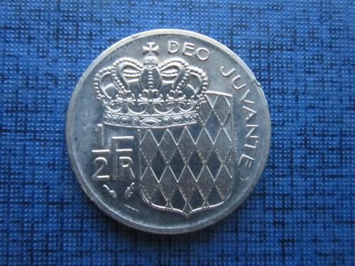 монета 1/2 франка Монако 1978