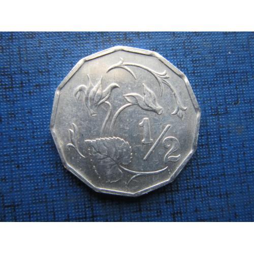 Монета 1/2 милса Кипр 1983 флора цветок