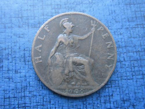 монета 1/2 пенни Великобритания 1900 Виктория