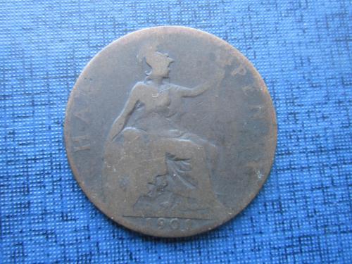 монета 1/2 пенни Великобритания 1901 Виктория