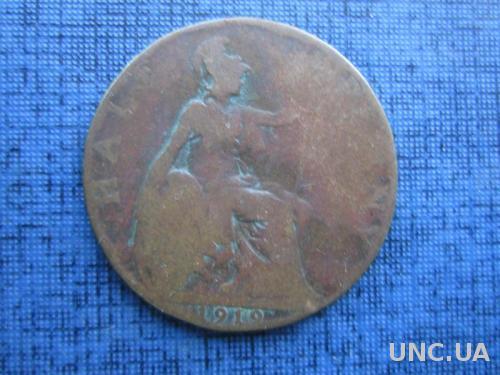 монета 1/2 пенни Великобритания 1919