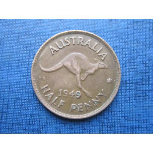Монета 1/2 пол пенни Австралия 1949 фауна кенгуру