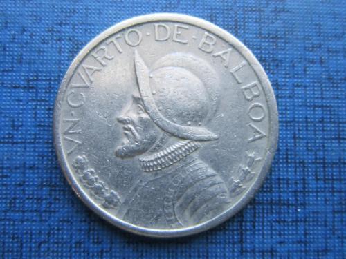 Монета 1/4 бальбоа Панама 2001