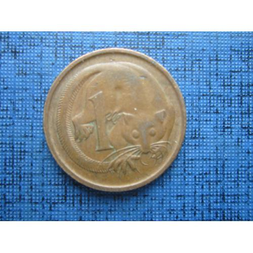 Монета 1 цент Австралия 1966 фауна