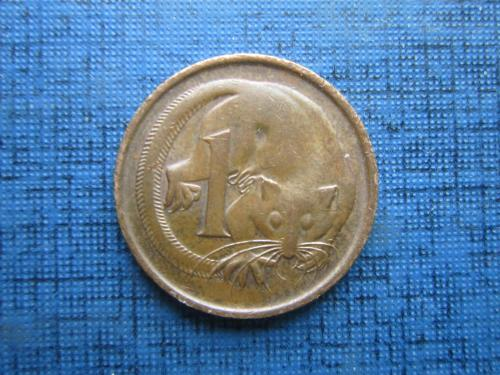 Монета 1 цент Австралия 1982 фауна