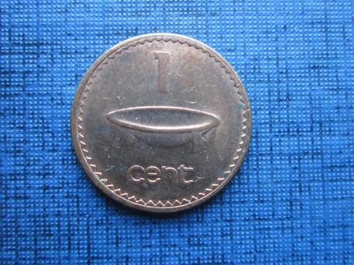 Монета 1 цент Фиджи Британское 1992