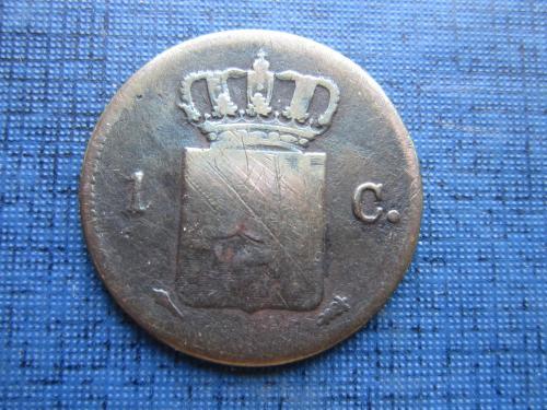 Монета 1 цент Нидерланды 1828 очень редкая
