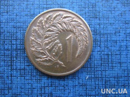 монета 1 цент Новая Зеландия 1970