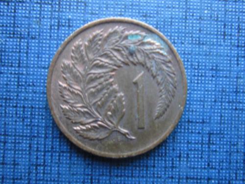 Монета 1 цент Новая Зеландия 1973 папоротник