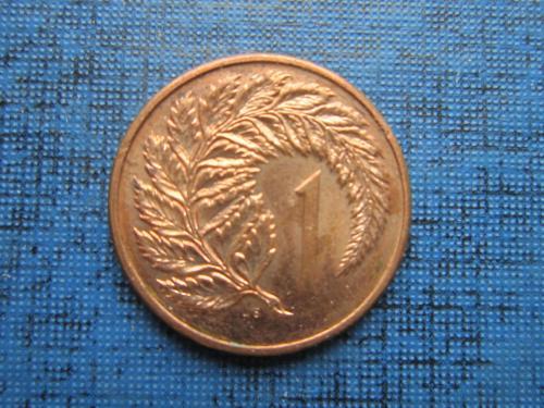 Монета 1 цент Новая Зеландия 1985 папоротник