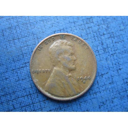 Монета 1 цент США 1944-S