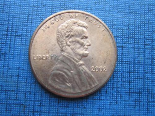 Монета 1 цент США 2002