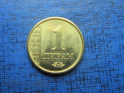 Монета 1 дирам Таджикистан 2011 состояние