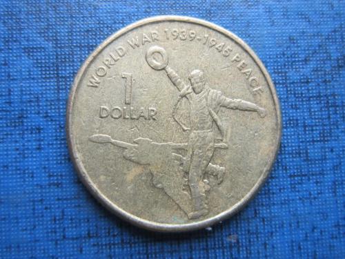 Монета 1 доллар Австралия 2005 Вторая мировая война Возвращение домой