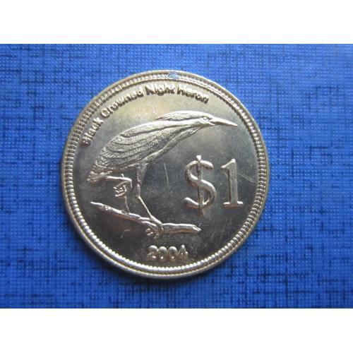 Монета 1 доллар Кокосовые острова Килинг 2004 фауна птица состояние