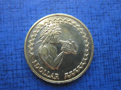 Монета 1 доллар Токелау 2017 фауна раковина состояние