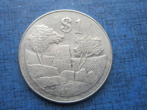 Монета 1 доллар Зимбабве 2001