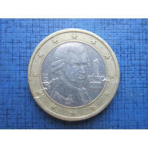 Монета 1 евро Австрия 2009