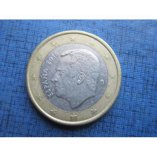 Монета 1 евро Испания 2016