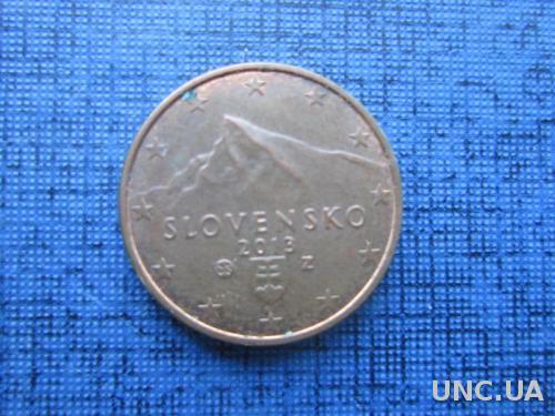 Монета 1 евроцент Словакия 2013