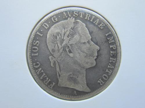 монета 1 флорин Австро-Венгрия 1859 А серебро