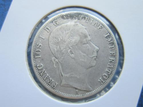 монета 1 флорин Австро-Венгрия 1860 А серебро