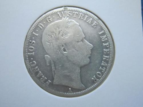 монета 1 флорин Австро-Венгрия 1861 А серебро
