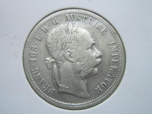 монета 1 флорин Австро-Венгрия 1877 серебро состояние
