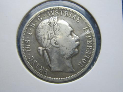 монета 1 флорин Австро-Венгрия 1878 серебро состояние