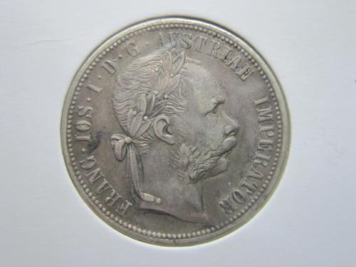 монета 1 флорин Австро-Венгрия 1879 серебро состояние