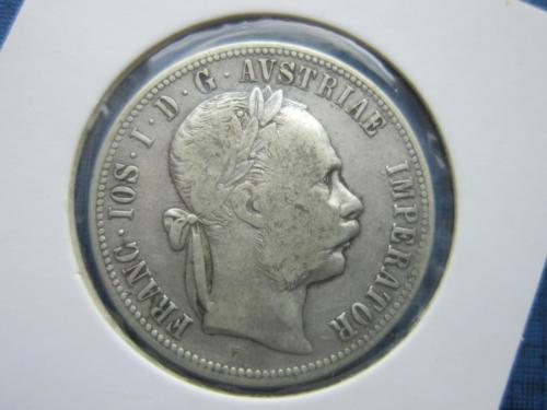 монета 1 флорин Австро-Венгрия 1881 серебро
