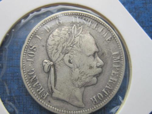 монета 1 флорин Австро-Венгрия 1887 серебро
