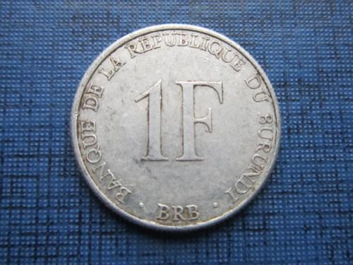 Монета 1 франк Бурунди 1980
