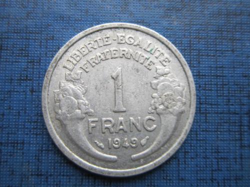 Монета 1 франк Франция 1949