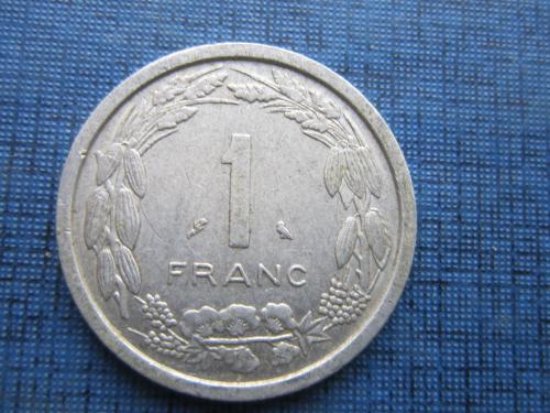 Монета 1 франк КФА Камерун 1969 фауна антилопа редкая
