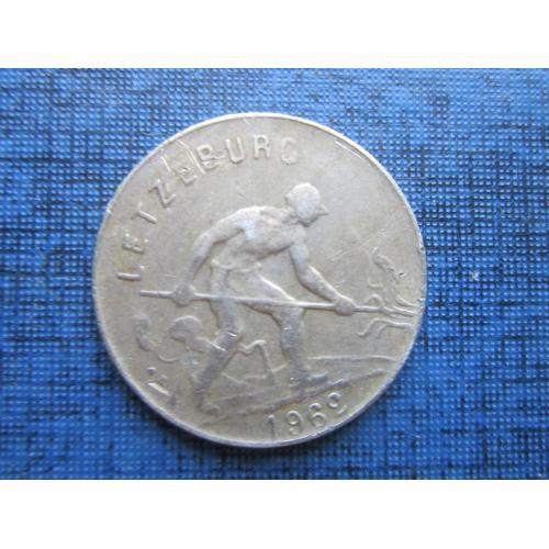 Монета 1 франк Люксембург 1962 сталевар