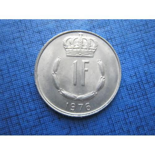 Монета 1 франк Люксембург 1976