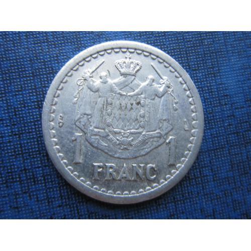 Монета 1 франк Монако 1943