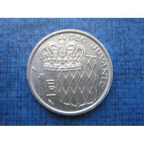 Монета 1 франк Монако 1968
