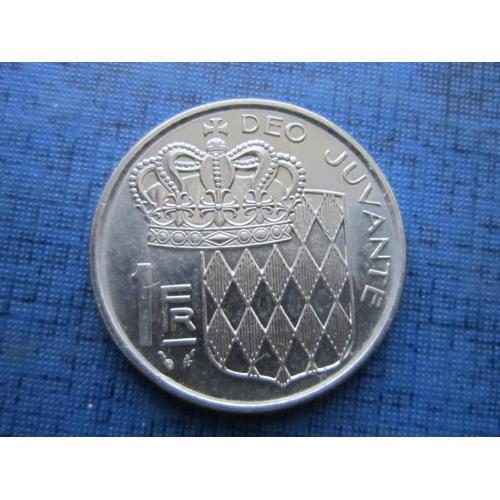 Монета 1 франк Монако 1978
