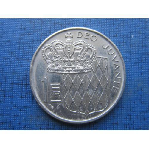 Монета 1 франк Монако 1982