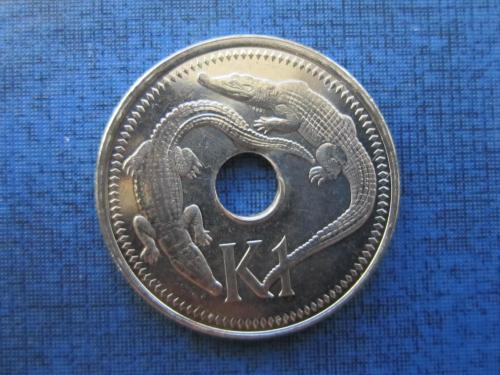 Монета 1 кина Папуа и Новая Гвинея 2004 большая фауна крокодил состояние