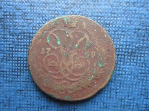 Монета 1 копейка Россия 1759 Елизавета Петровна