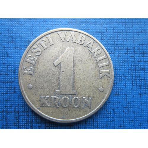 Монета 1 крона Эстония 2000