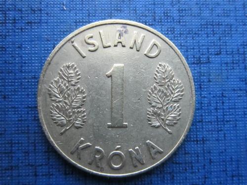 Монета 1 крона Исландия 1957